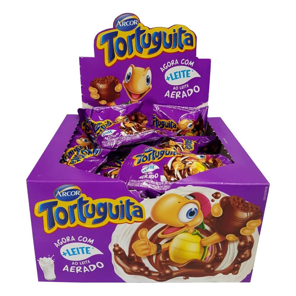 Chocolate Tortuguita Ao Leite Aerado c/24 - Arcor