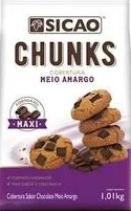 Chunks gotas cobertura forneável sabor chocolate meio amargo 1,01kg