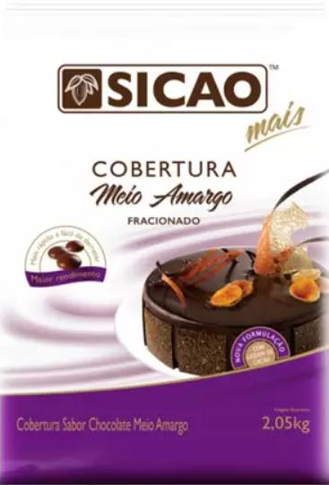 Cobertura mais sabor chocolate meio amargo 2,05kg