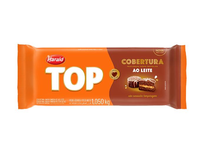 Cobertura top ao leite barra harald 1,010kg