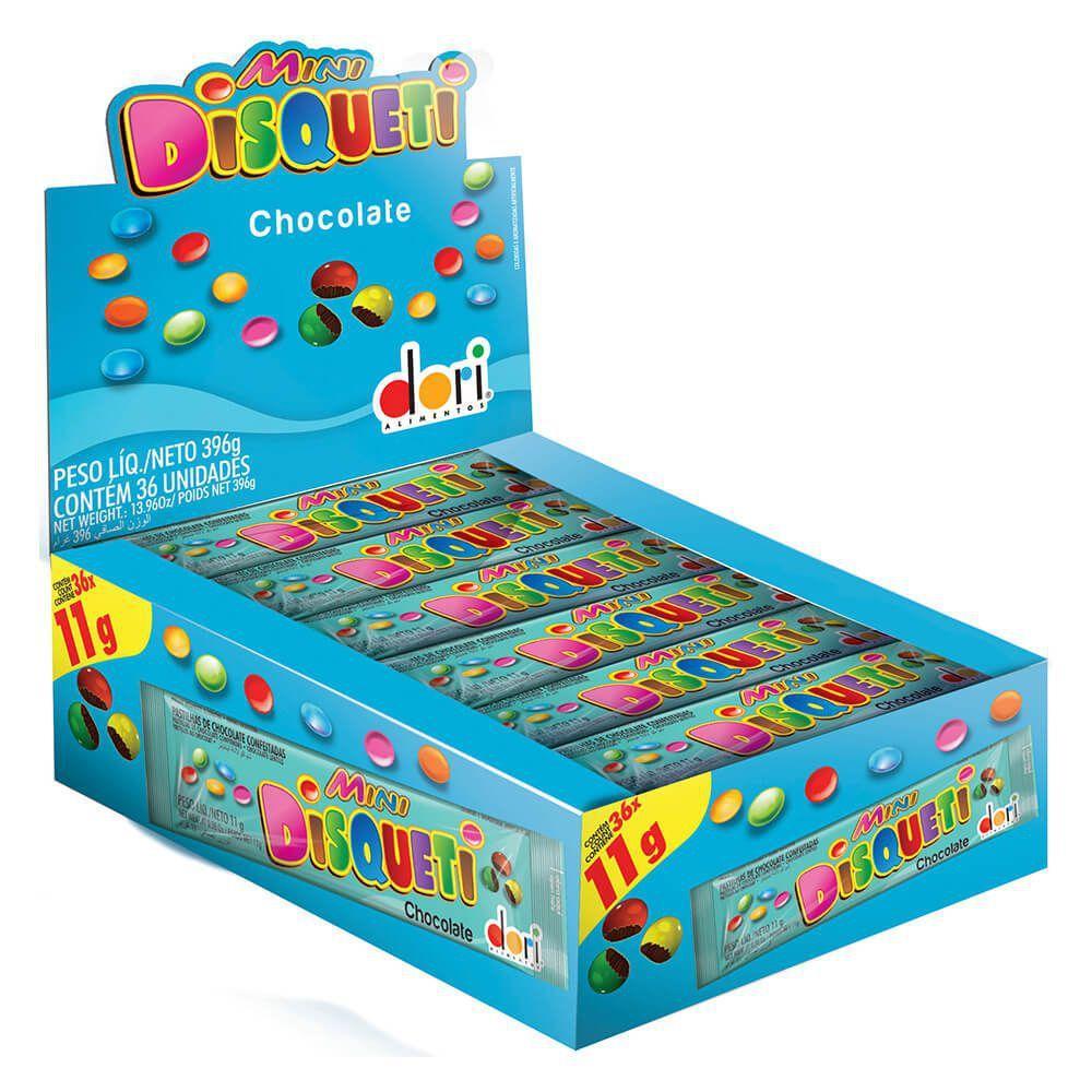 Confeito Chocolate Disqueti Mini 396g c/36 - Dori