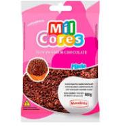 Confeito Flocos Macio Sabor Chocolate 500g - Mil Cores