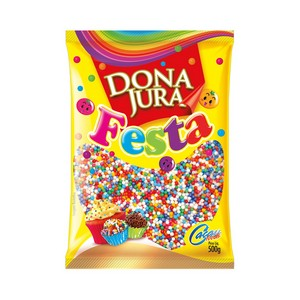 Confeito Miçanga Colorida 500g - Dona Jura