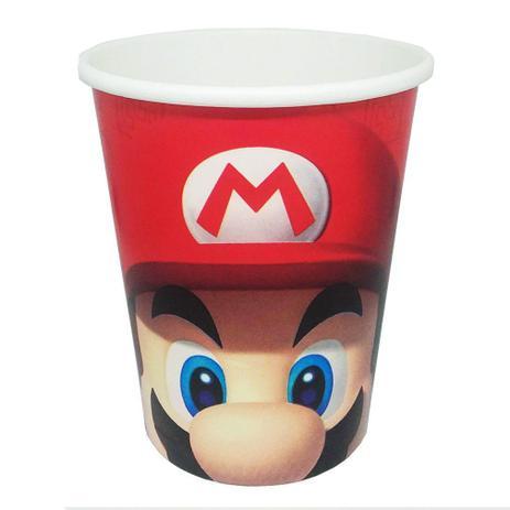 Copo de Papel Super Mario 240ml c/8 - Cromus