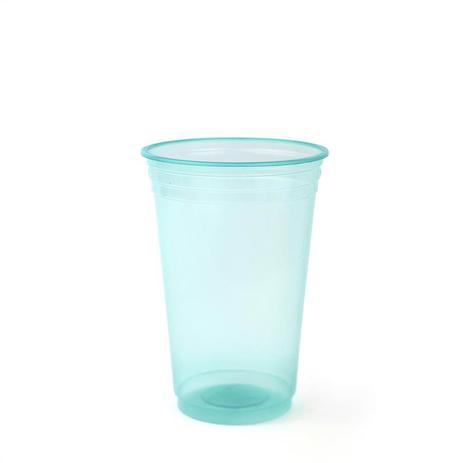 Copo Plástico Balada Neon Verde 300ml c/25 - Copobras