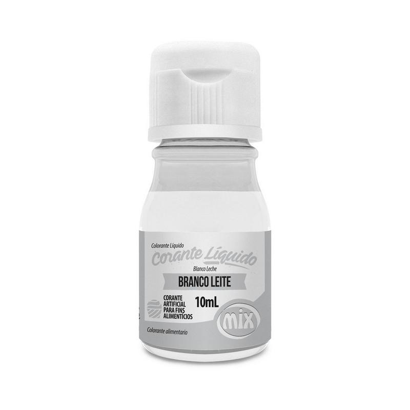 Corante Líquido Branco Leite 10ml - Mix