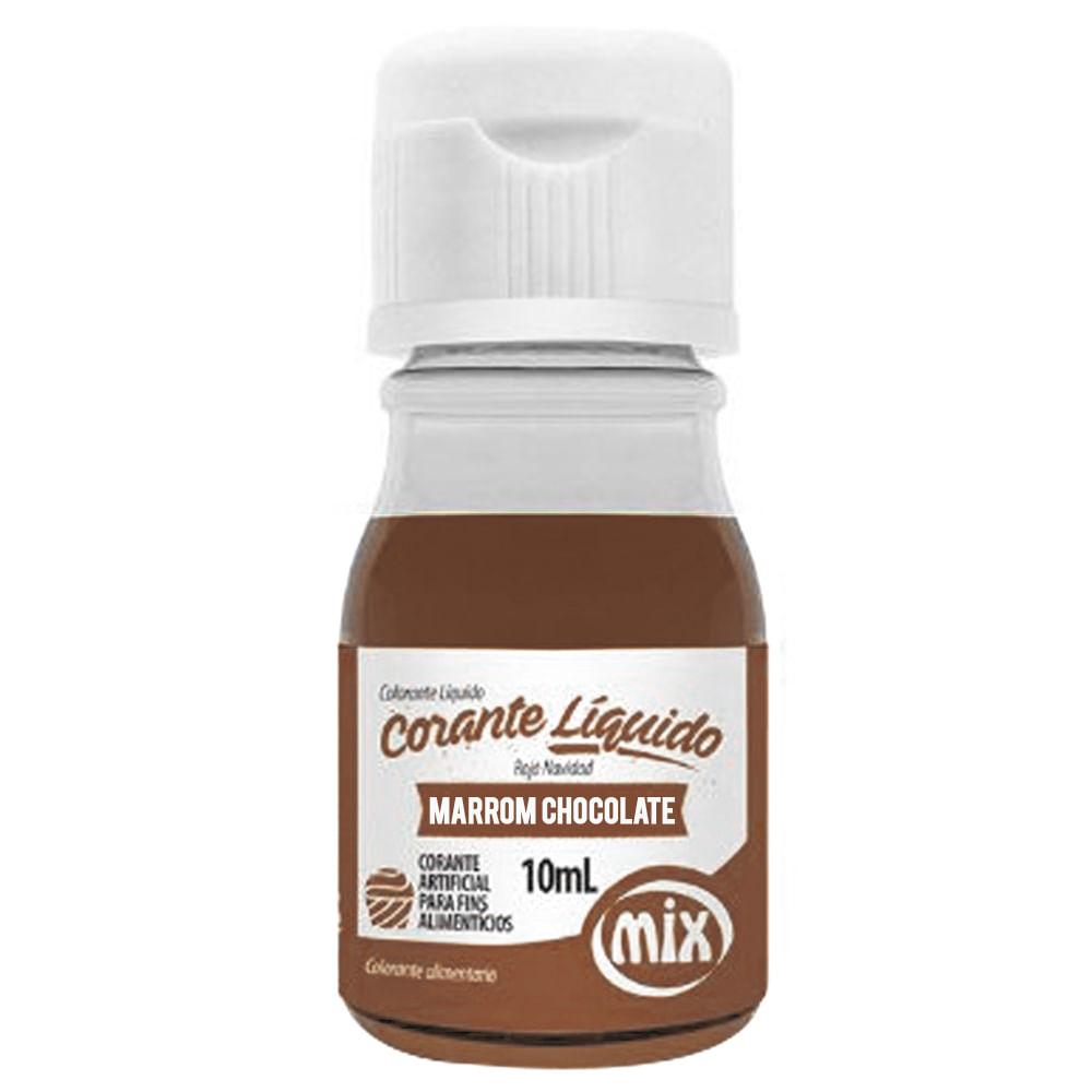 Corante Líquido Marrom Chocolate 10ml - Mix