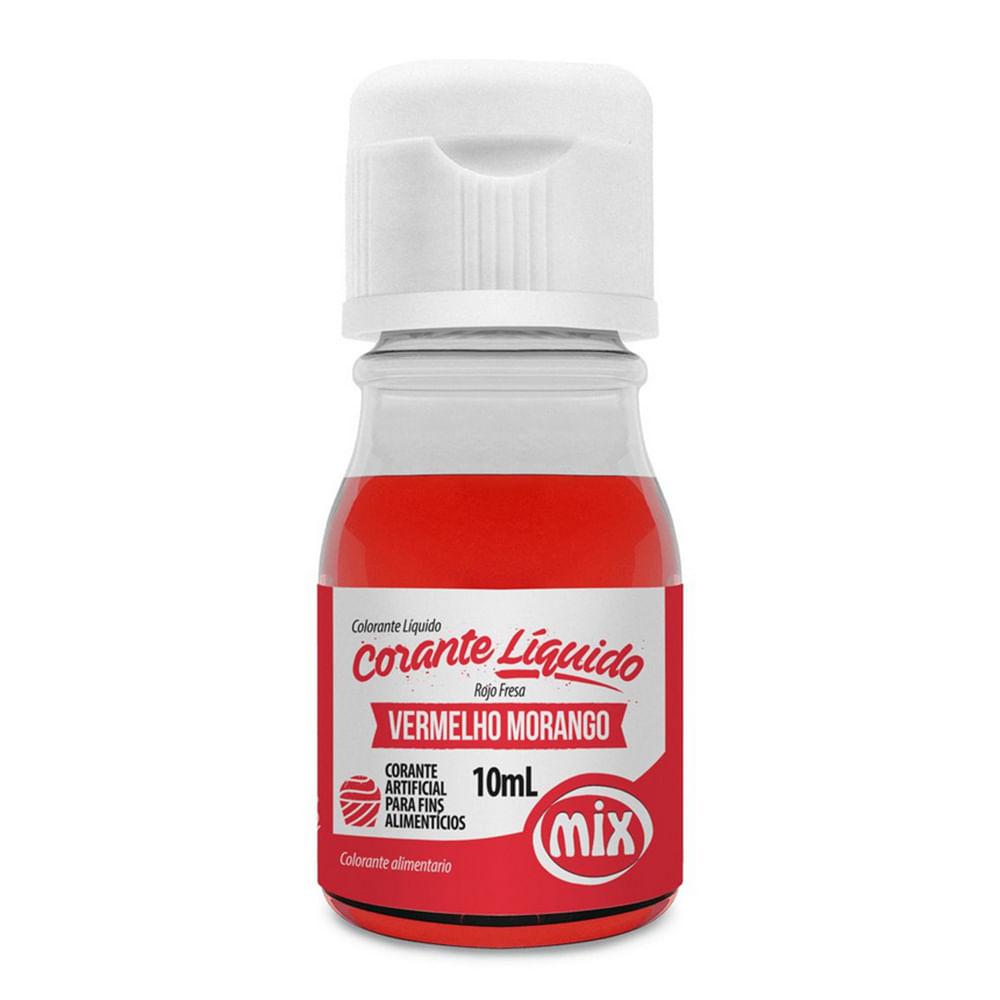 Corante Líquido Vermelho Morango 10ml - Mix
