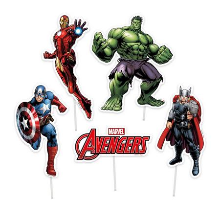 Decoração De Bolo Avengers c/4 - Regina