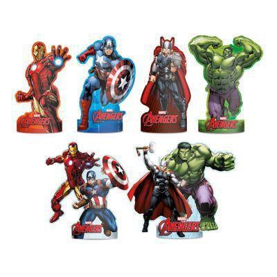 Decoração de Mesa Avengers c/6 - Regina