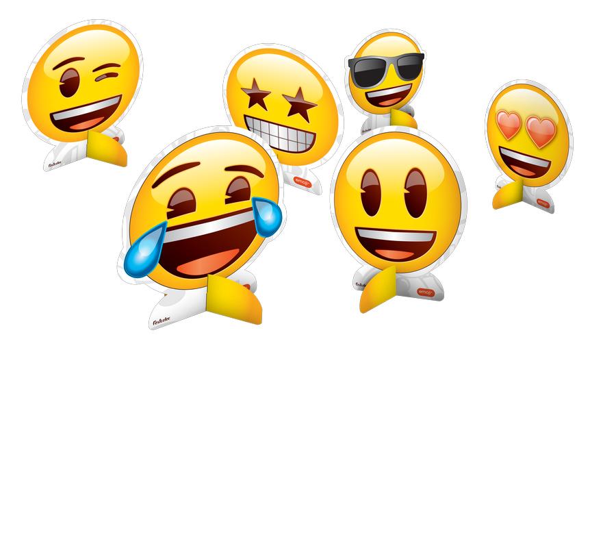 Decoração de Mesa Emoji c/8 - Festcolor