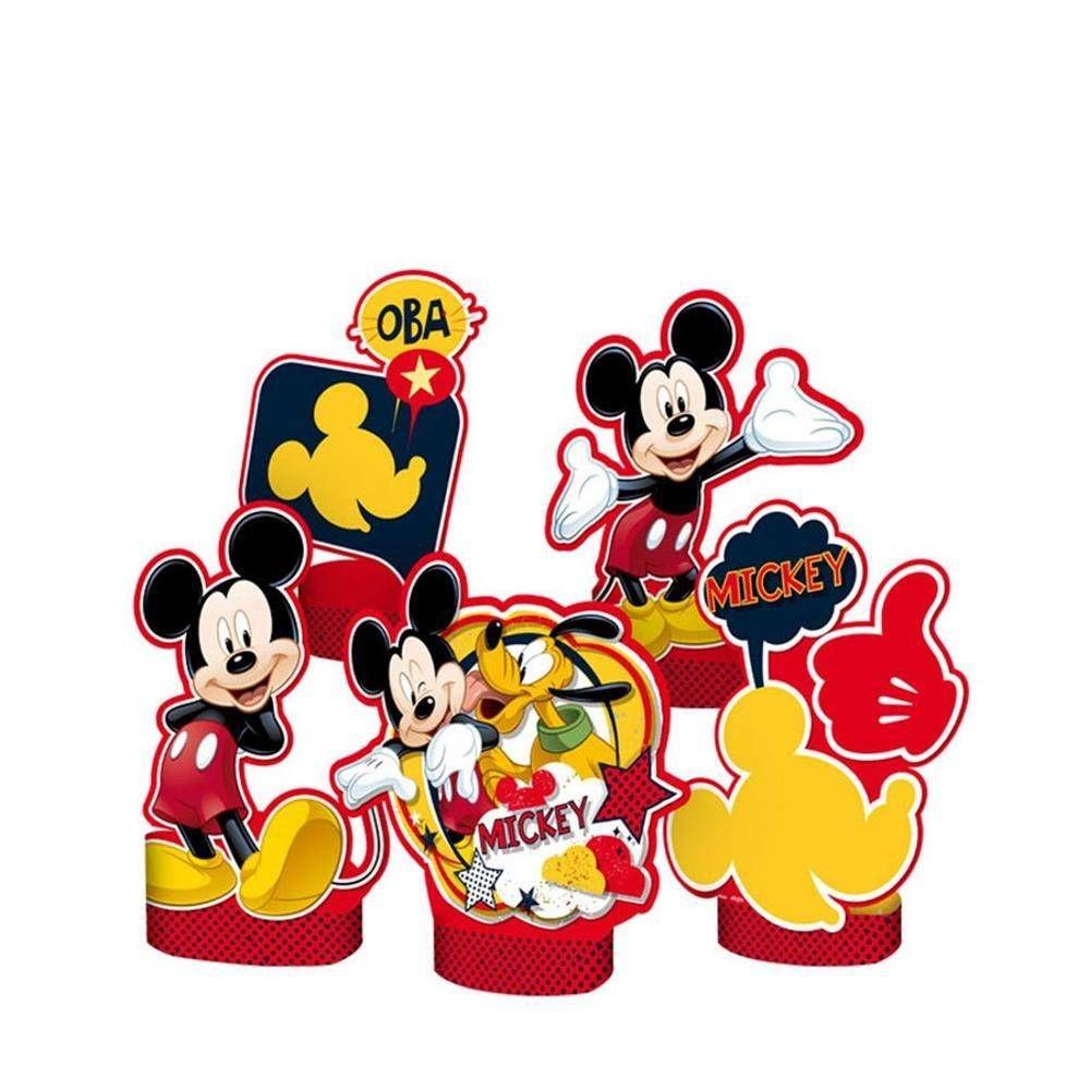 Decoração de Mesa Mickey c/5 - Regina