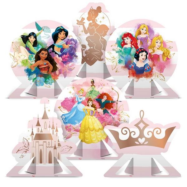 Decoração de Mesa Princesas c/6 - Regina
