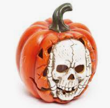 Enfeite Abóbora Luminária Halloween - Cromus