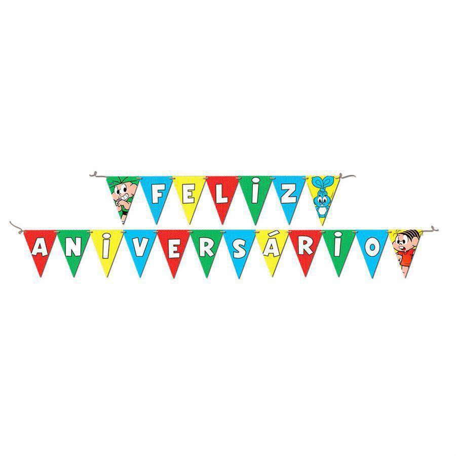 Faixa Feliz Aniversário Turma Da Mônica - Festcolor