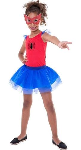 Fantasia Heroína Spider Girl P - Regina