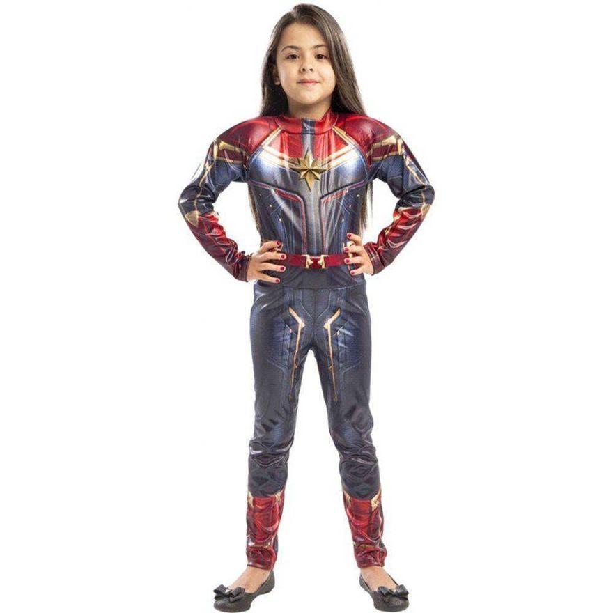 Fantasia Infantil Capitã Marvel G - Regina