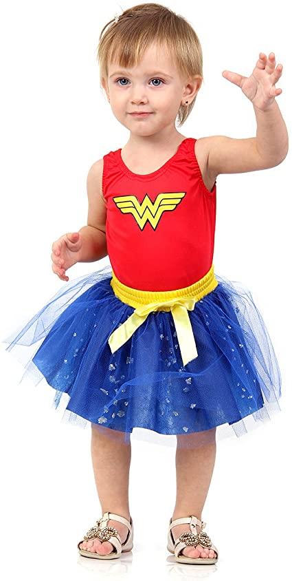 Fantasia Mulher Maravilha Bebê P - Sulamericana