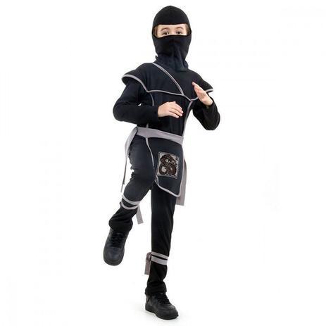 Fantasia Ninja Preto M - Sulamericana