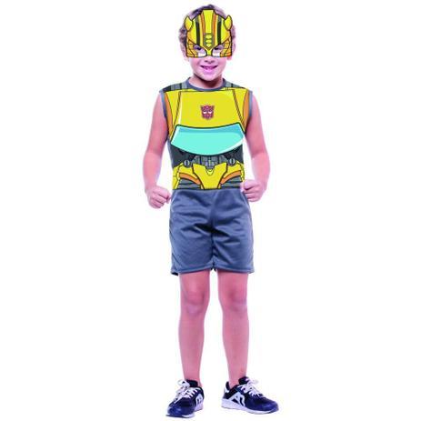 Fantasia Pop Transformers Curta M c/ Máscara - Regina