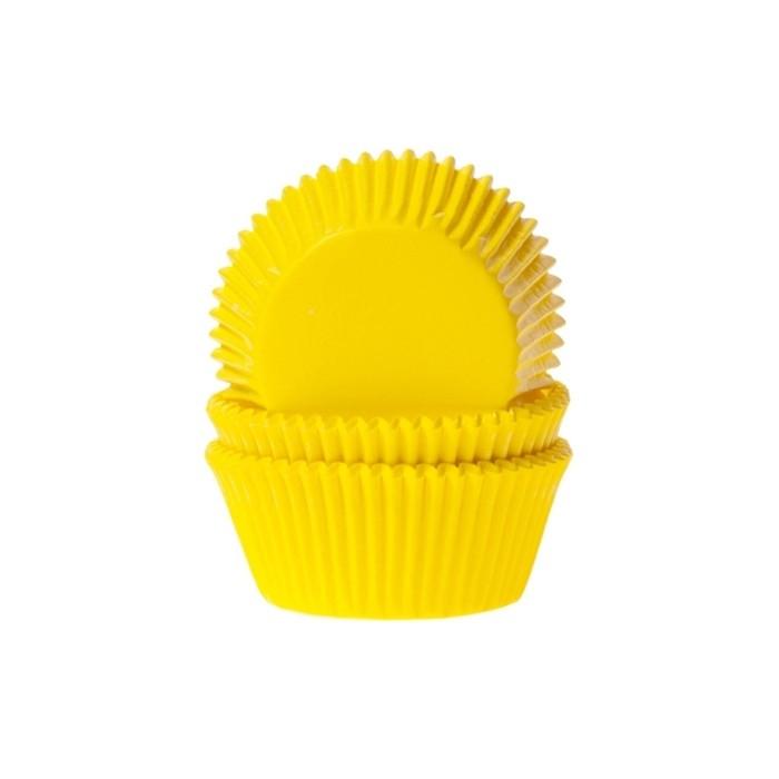 Forminha p/Mini Cupcake Amarela c/54 - Ultrafest