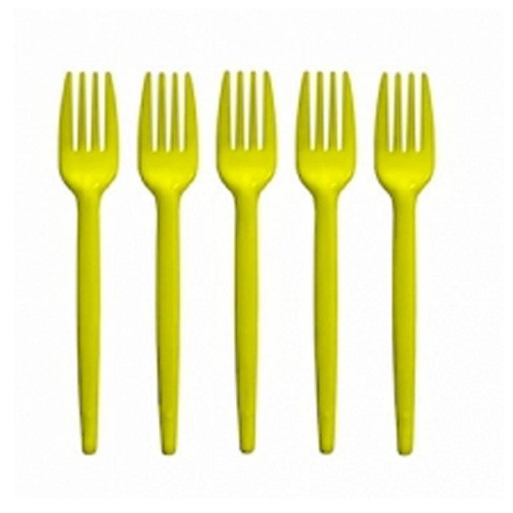 Garfo Sobremesa Amarelo c/50 - Kaixote