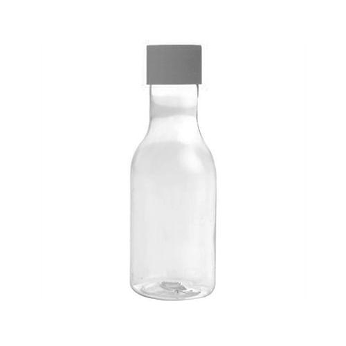 Garrafinha 50ml Transparente com Tampa Prata c/10 - Mirandinha