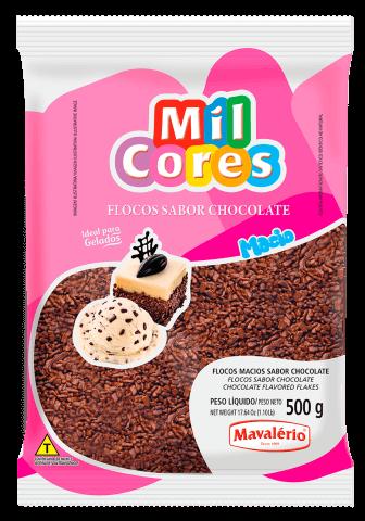 Granulado Flocos Chocolate 500g - Mil Cores