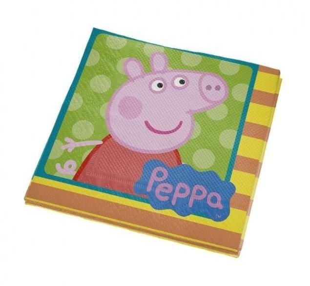 Guardanapo 25x25 c/16  Peppa Pig - Regina