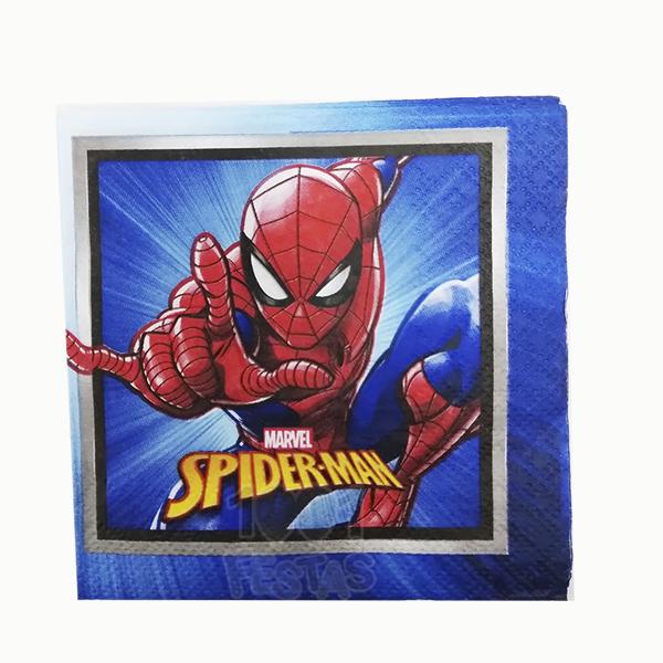 Guardanapo 25x25 c/16  Spider Man - Regina