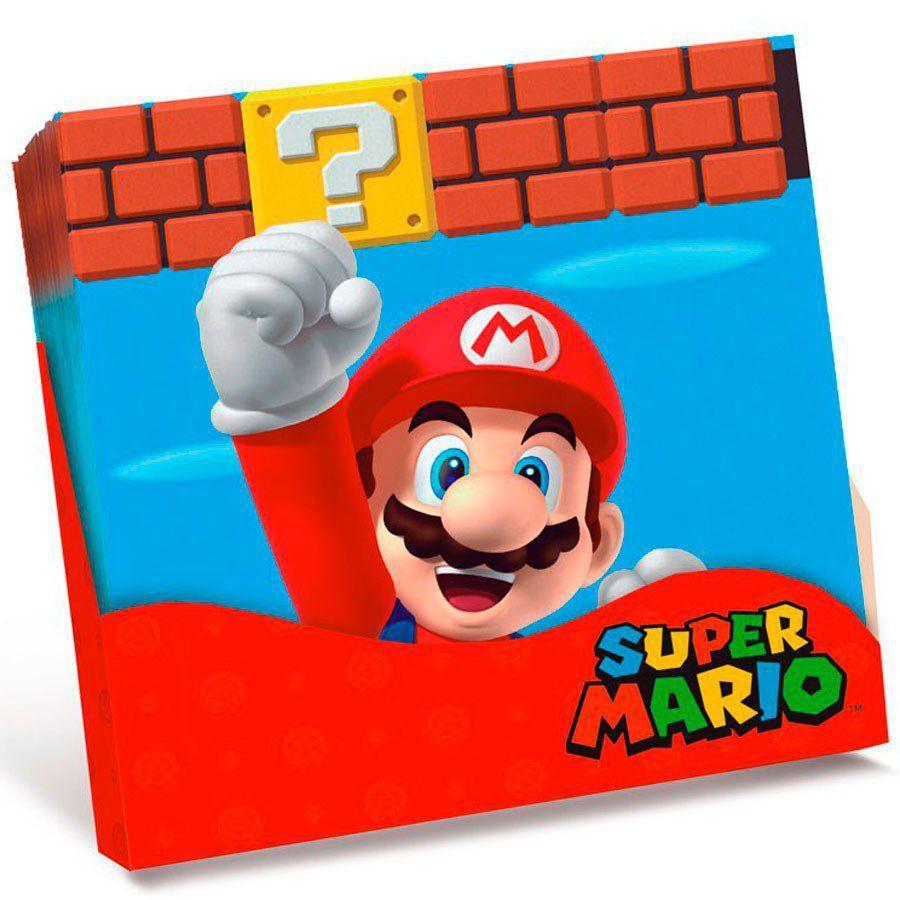 Guardanapo 25x25 c/20 Super Mario - Cromus