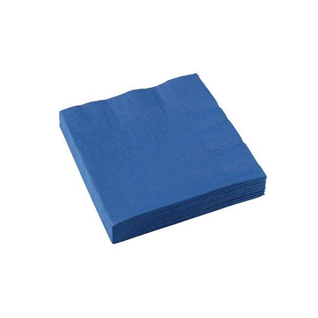 Guardanapo de Papel Folha Dupla 24x24 Azul Escuro c/20 - Silver Festas