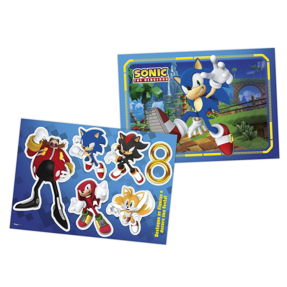 Kit Decorativo Sonic - Regina