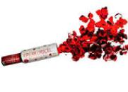 Lança confete explode corações vermelho