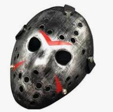 Máscara Jason Metalizada Prata