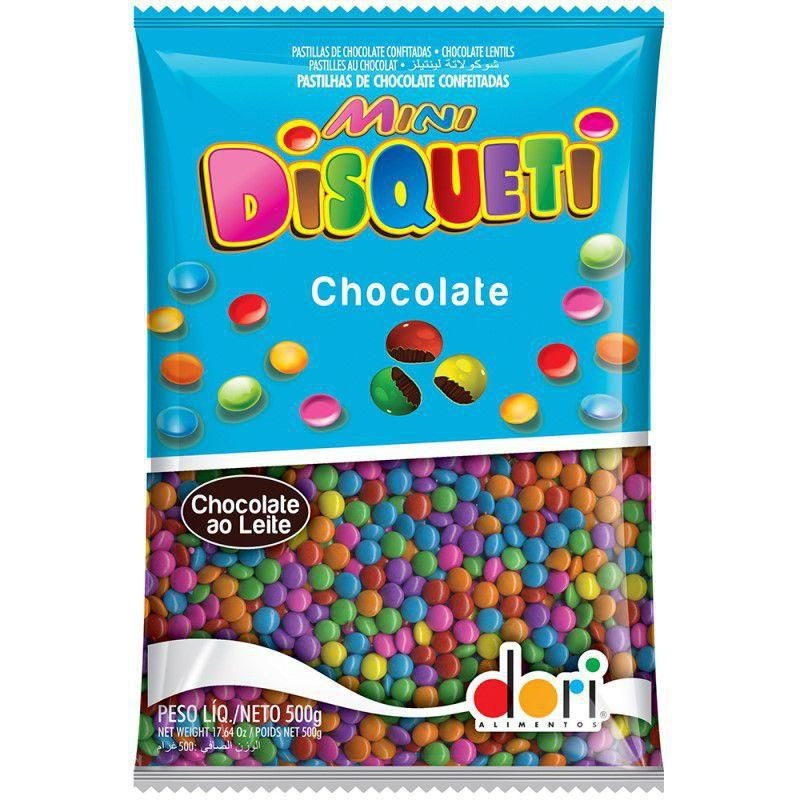 Mini Disqueti Chocolate ao Leite 500g - Dori