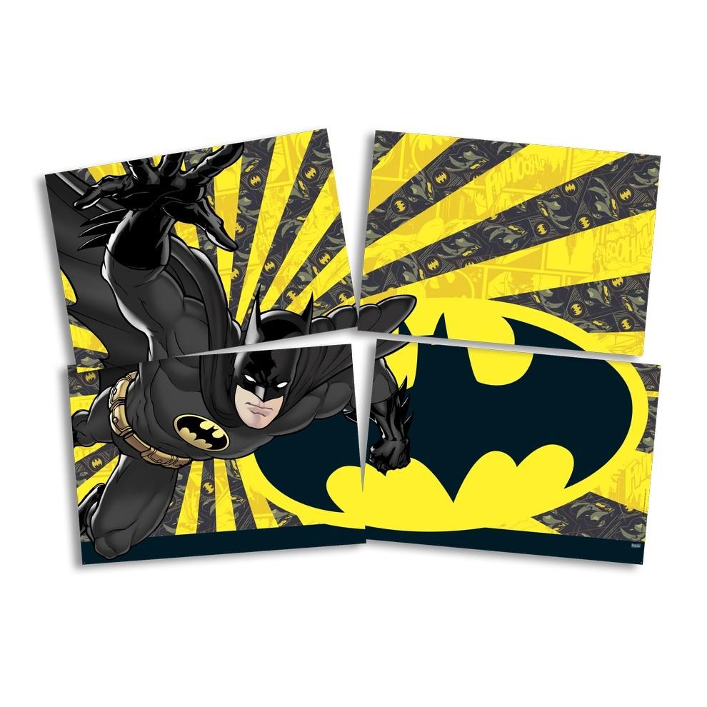 Painel 4 Laminas Decorativo Batman Geek - Festcolor