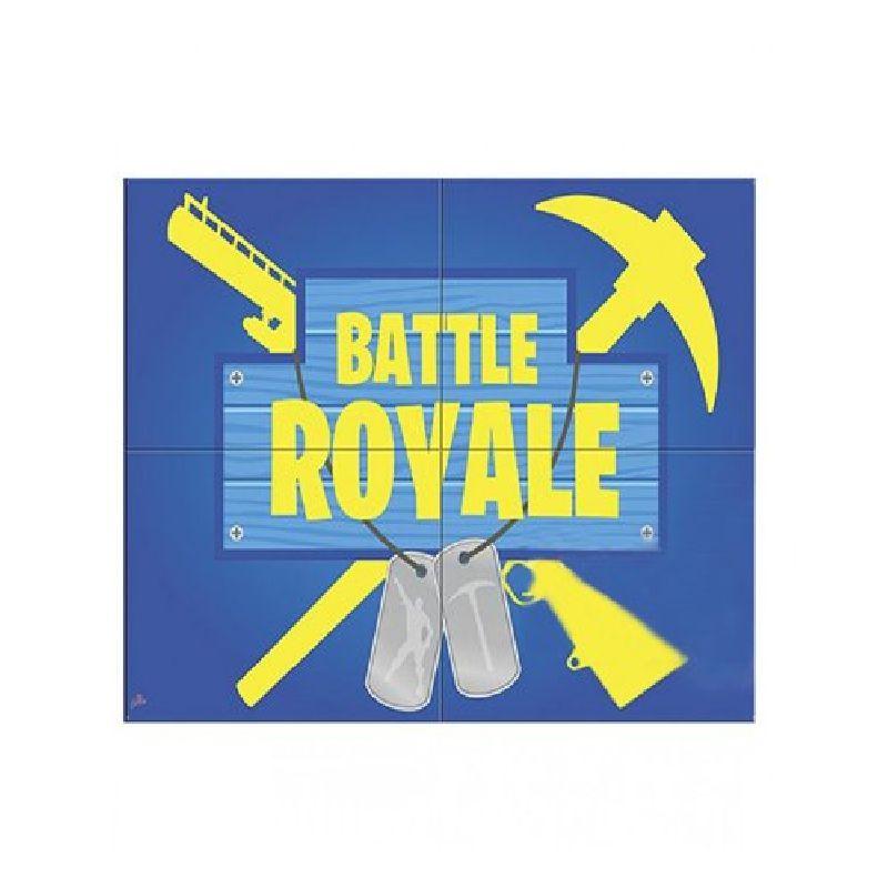 Painel 4 Laminas Decorativo Battle Royale - Junco