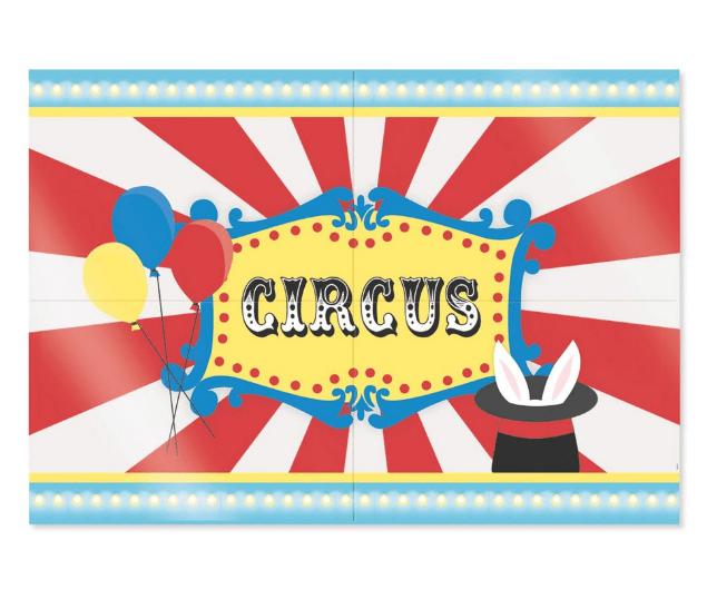 Painel 4 Laminas Decorativo Circus - Cromus