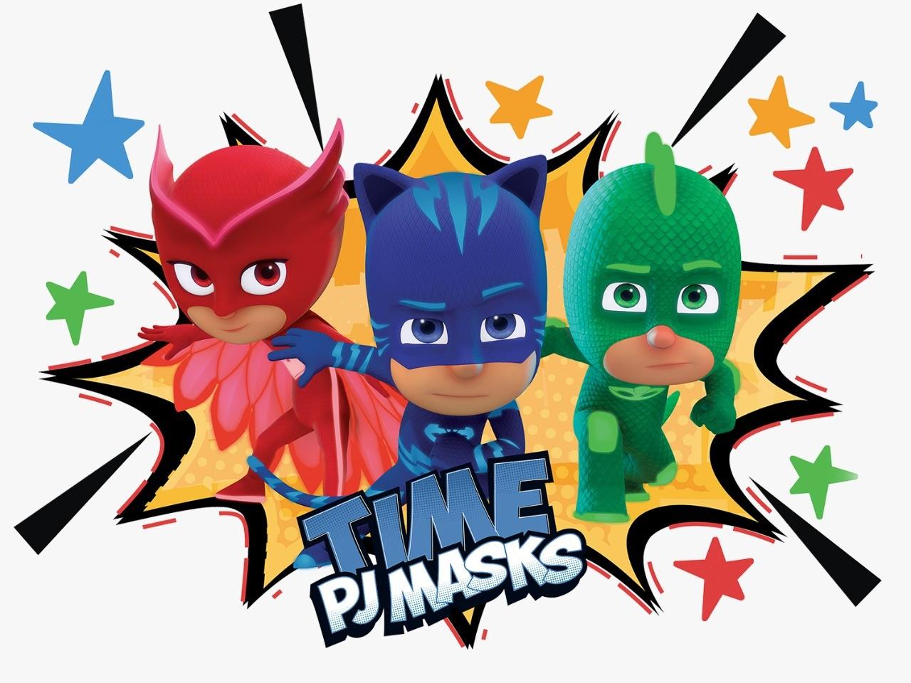 Painel 4 Laminas Decorativo PJ Masks - Regina