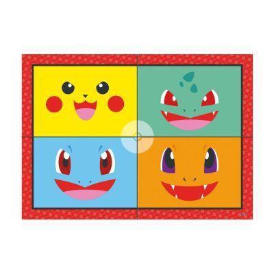 Painel 4 Laminas Decorativo Pocket Monsters - Junco