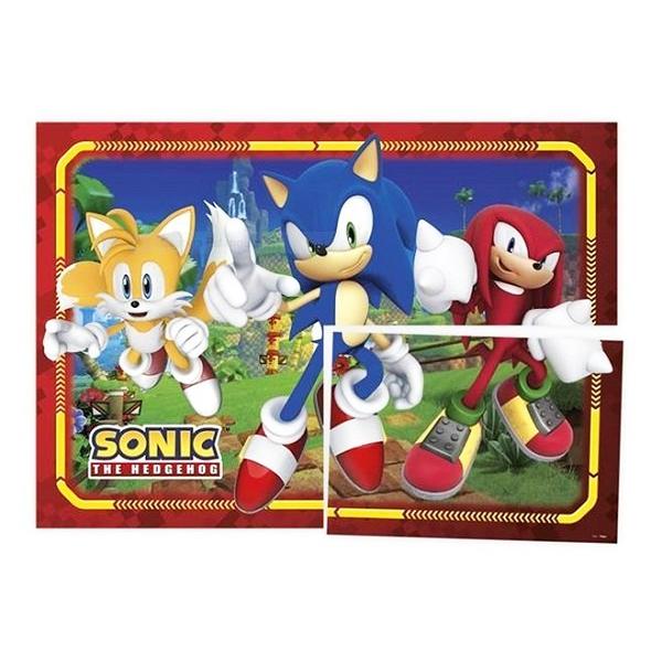 Painel 4 Laminas Decorativo Sonic - Regina