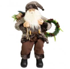 Papai Noel Sentado Lenhador 60cm