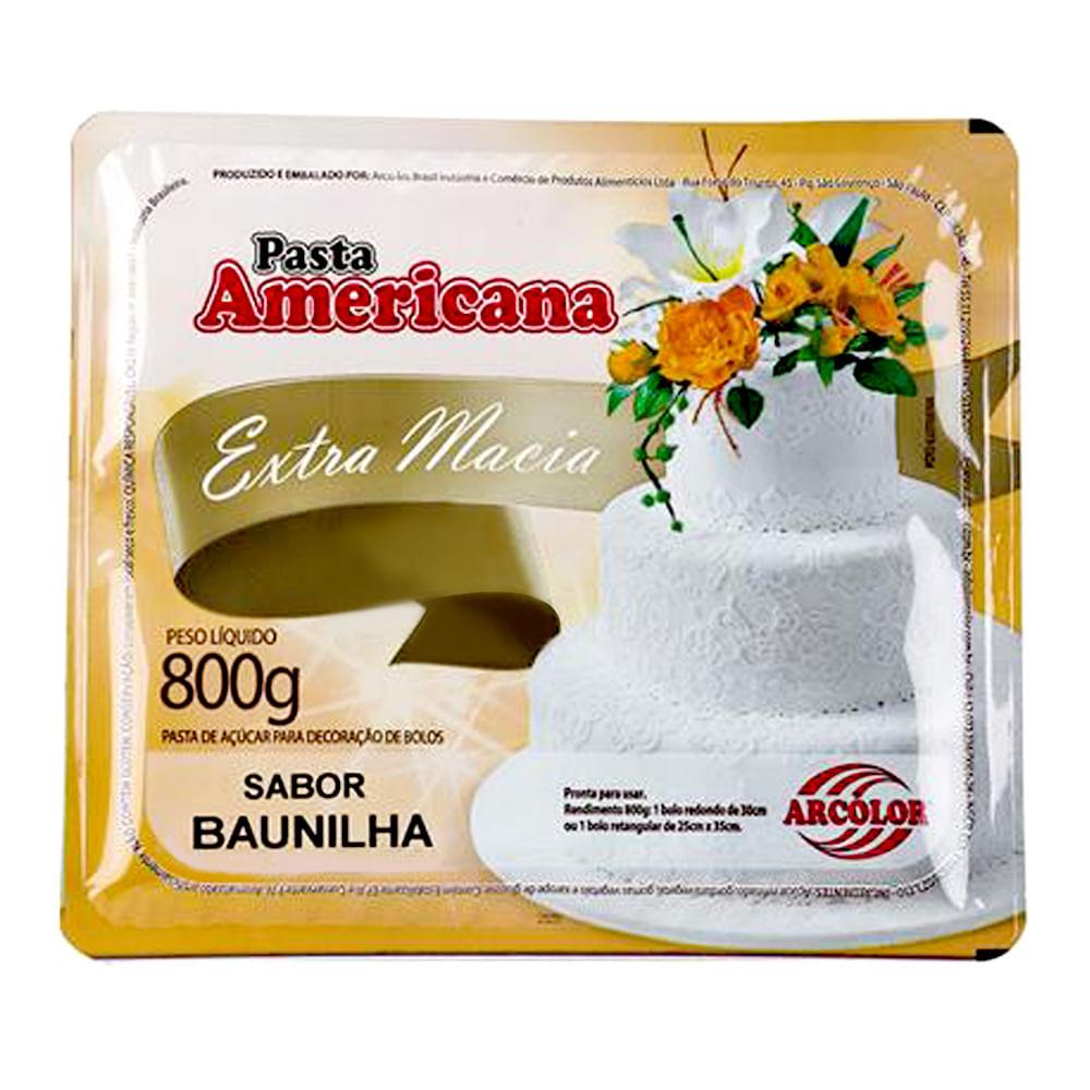 Pasta Americana Sabor Baunilha 800g - Arcolor