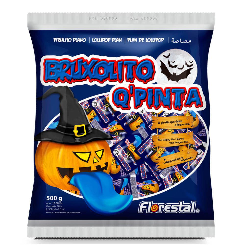 Pirulito Bruxolito Q' Pinta pacote 500g - Florestal