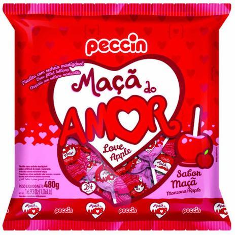 Pirulito Maçã do Amor 480g c/24 - Peccin
