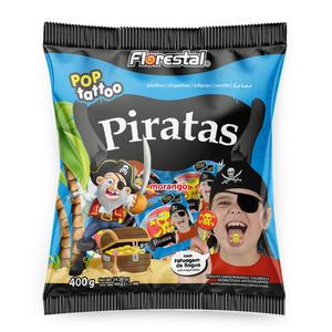 Pirulito Pop Tattoo Piratas - Florestal