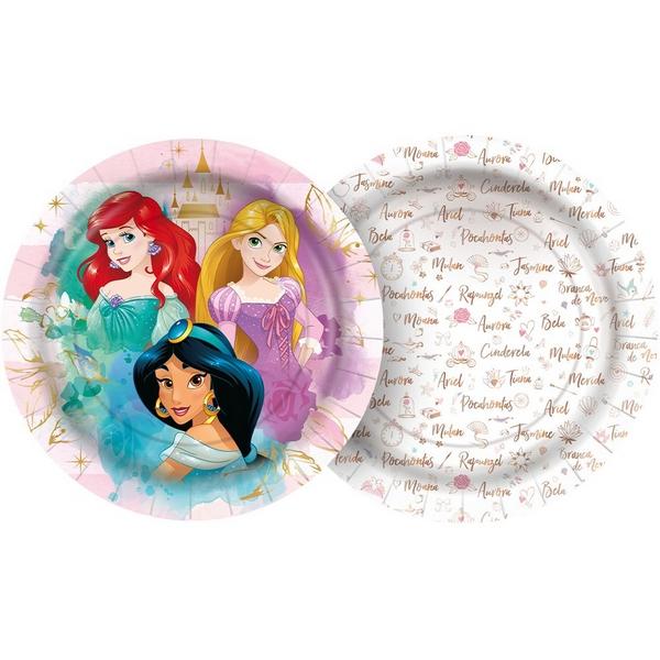 Prato 18cm Princesas c/12 - Regina
