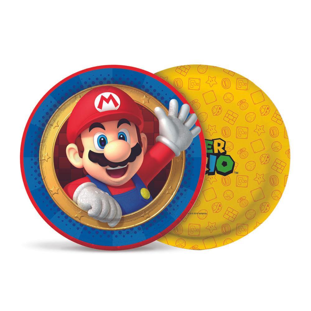 Prato 18cm Super Mario c/8 - Cromus