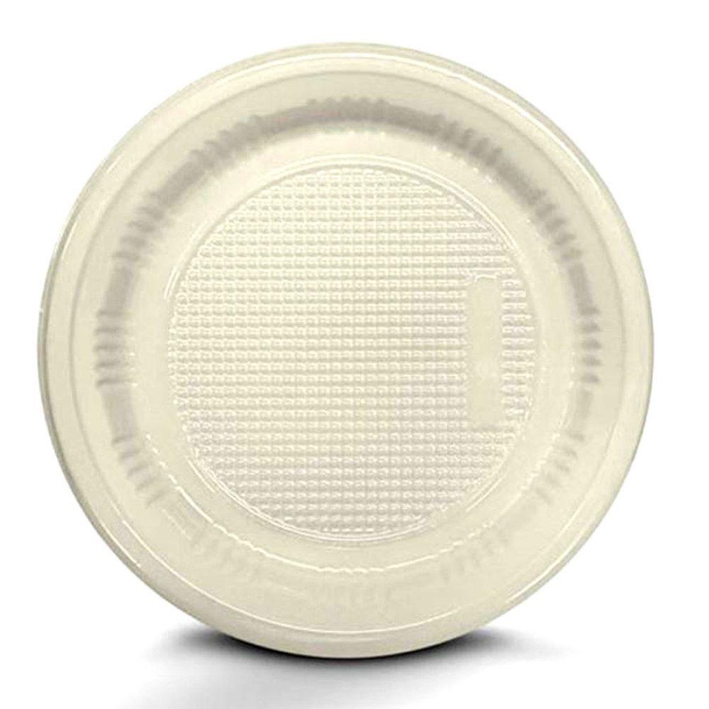Prato Descartável 15cm Branco c/10 - Kaixote